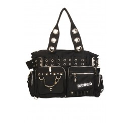 Banned Clothing -Black Handcuff Bag