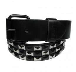 Punk'd Image - Black/Silver 3 Row Studded Belt