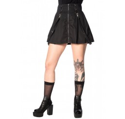 Banned Apparel - Black Gothic Bondage Straps Skirt