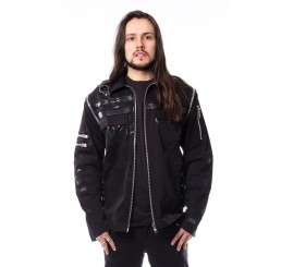 Vixxsin - Black Gothic Zipper Alternative Punk Rock Metal Felix Winter Jacket