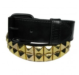 Punk'd Image - 2 Row Gold Studded Belt