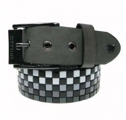 Punk'd Image - Black &White Grey Fade Studded Belt