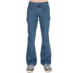 Punk'd Image - Blue Stonewash Denim Boot Cut Flared Jeans
