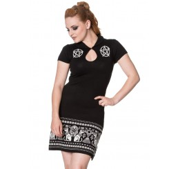 Banned Clothing - Turismo Occult Gothic Black Dress