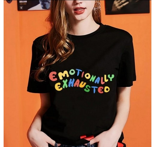 870ddb6c3da Quick View Emotionally Exhausted Black T-Shirt