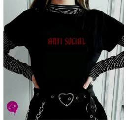 Anti Social Red Logo T Shirt