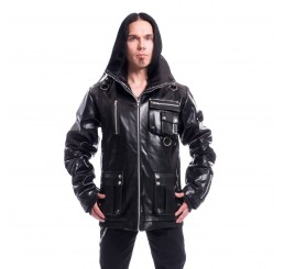 Chemical Black - Black Gothic PVC Arsen Jacket