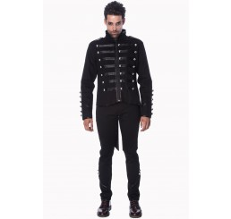 Banned Clothing - Millitary Drummer Black Parade Jacket (Black)