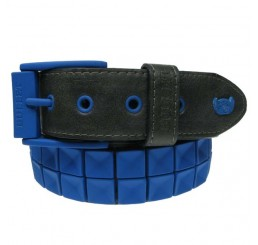 Punk'd Image - Blue Textured Studded Belt