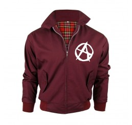 Burgundy Wine Punk Rock Anarchy Harrington Jacket