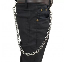 Punk Grunge Gothic Silver Hipster Silver Wallet Jean Trouser Key Chain