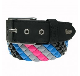 Punk'd Image - Diagnonal Multicoloured Studded Belt