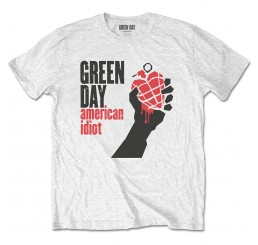Green Day American Idiot White Tee