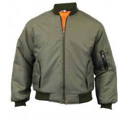 Punk'd Image - MA1 Pilot Bomber Guys Jacket (Green)