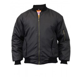 MA1 Pilot Bomber Guys Jacket Black