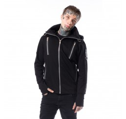 Chemical Black - Kieran Black Zipper Hoodie