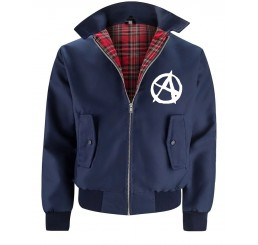 Navy Punk Rock Anarchy Harrington Jacket