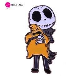 The Nightmare Before Christmas Jack Skellington Kidnapping The Boogie Man Enamel Pin