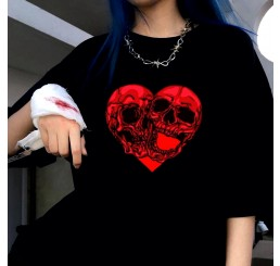 Red Skele Heart T Shirt