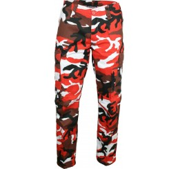 Relco Red Cargo Camoflauge Military Trouser Pants