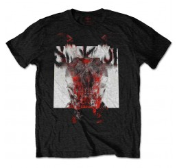 Slipknot Devil Single Logo Blur T Shirt