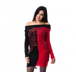 Heartless Clothing - Split End Top (Black/Red)