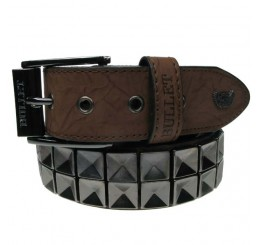 Punk'd Image - Black Textured Studded Belt