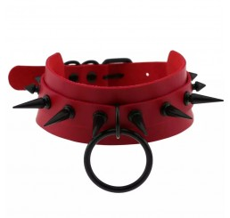 Punk Spike Red O-Ring Choker