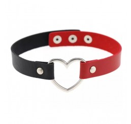 Red Black Love Heart Necklace Choker