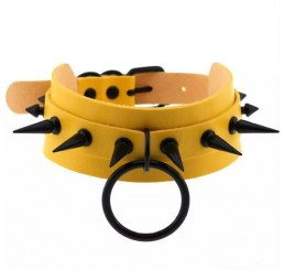 Punk Spike Yellow O-Ring Choker
