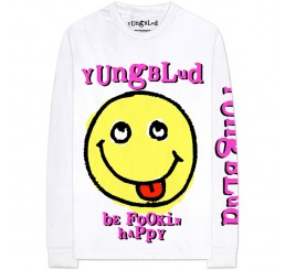 Yungblud Be Fookin Happy Raver Long Sleeve T Shirt